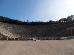 Epidavros theater - Zeilen-Griekenland