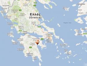 Locatie Nafplion in Griekenland